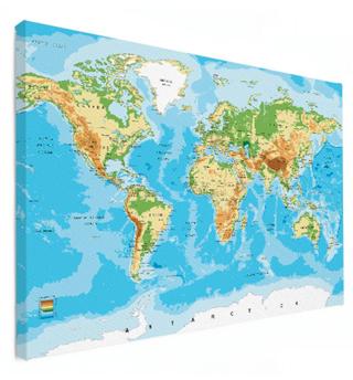 Weltkarte an der wand wanddeko for Weltkarte leinwand ikea