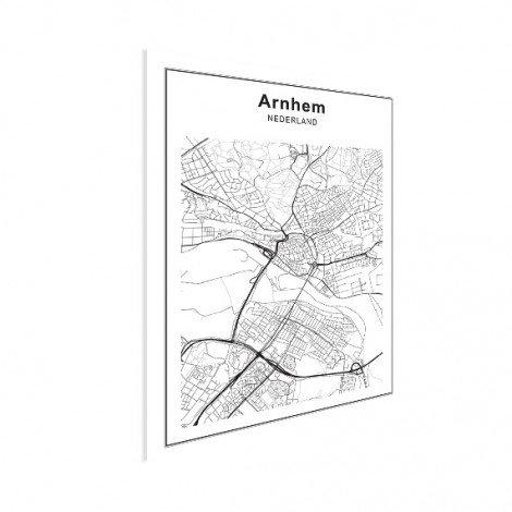 Stadtkarte Arnheim Schwarz-Weiß Poster