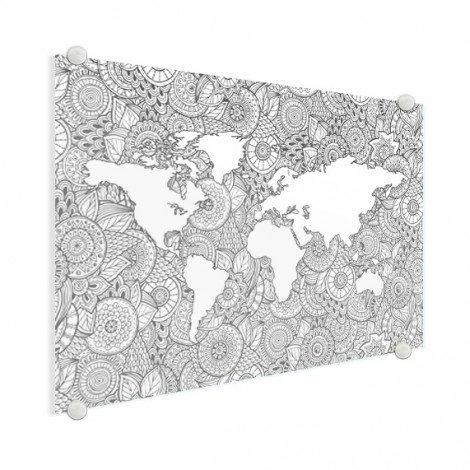 Asiatisch - schwarz-weiß Acrylglas