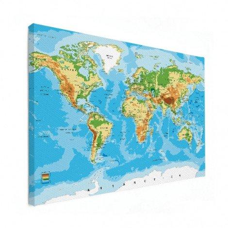 Weltkarte Klassisch Leinwand
