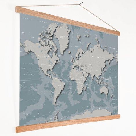 Coole Weltkarte Textilposter