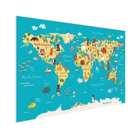 Weltkarte Kontinente & Meere Poster