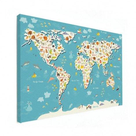 Weltkarte Suchbild Leinwand