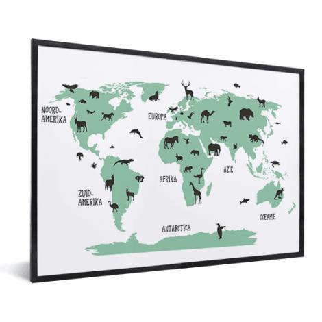 Tiere grün im Rahmen