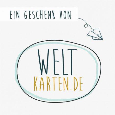 Geschenkgutschein 25,00 € Weltkarten.de