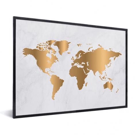 Gold Marmor im Rahmen