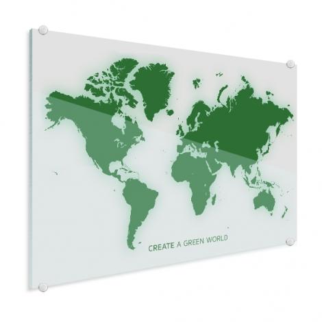 Weltkarte Grün Acrylglas