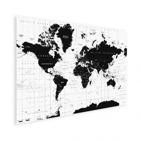 Weltkarte Informativ Poster