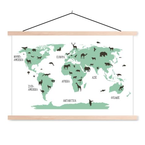 Tiere Grün Textilposter