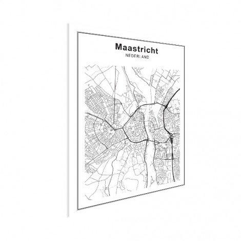 Stadtkarte Maastricht Schwarz-Weiß Poster
