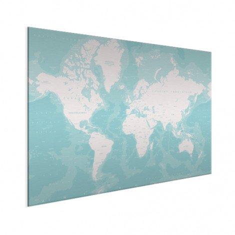 Ozeane Weltkarte Aluminium