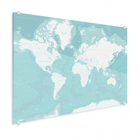 Ozeane Weltkarte Acrylglas