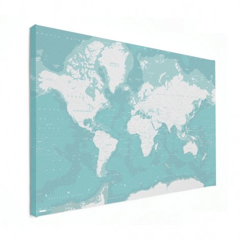 Ozeane Weltkarte Leinwand
