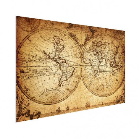 Weltkarte Seefahrt Poster
