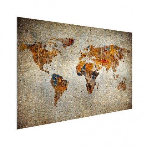 Weltkarte Malerei auf Stein Poster