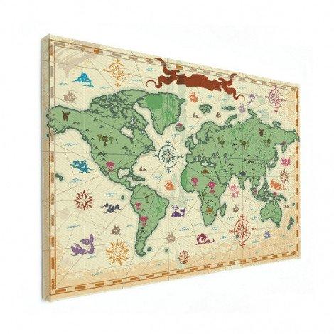 Weltkarte Schatzkarte Leinwand