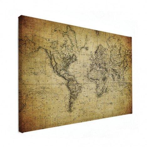 Weltkarte Vintage Leinwand