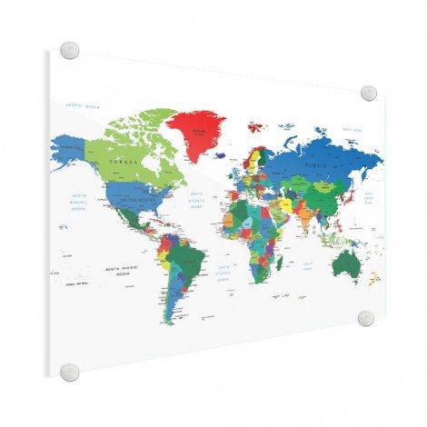 Weltkarte alle Länder Acrylglas