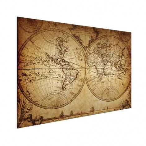 Weltkarte Seefahrt Aluminium