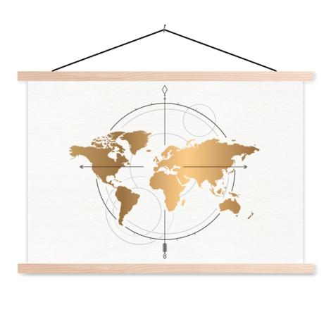 Kompass - groß gold Textilposter