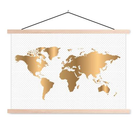 Gold mit Punkten Textilposter