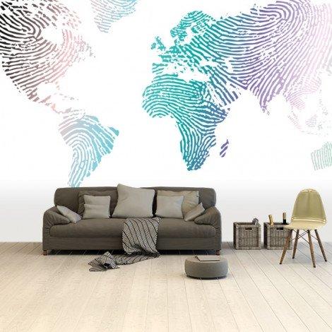 Fingerabdruck Farbig Tapete