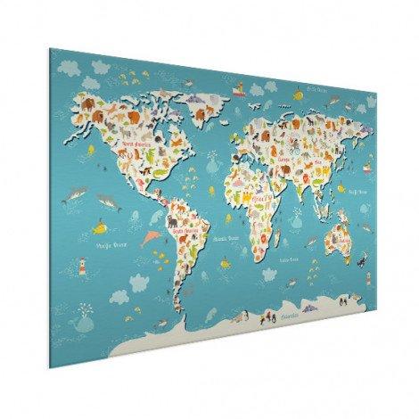Weltkarte Suchbild Aluminium