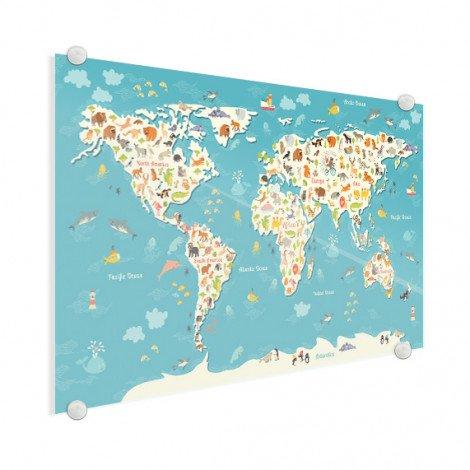 Weltkarte Suchbild Acrylglas