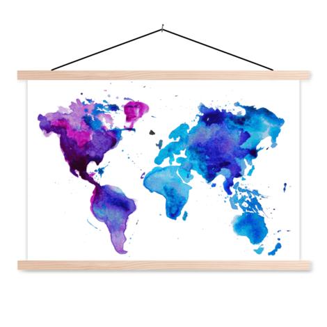 Aquarell blau Textilposter