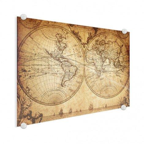 Weltkarte Seefahrt Acrylglas