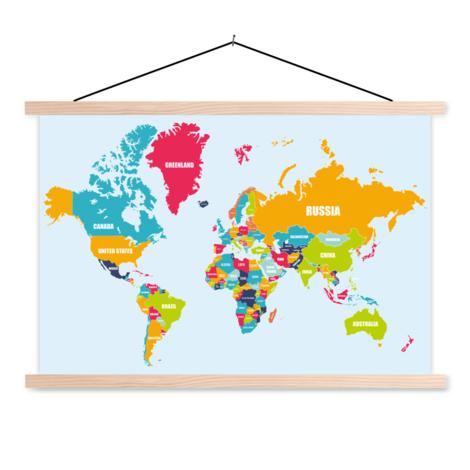 Ländernamen Textilposter