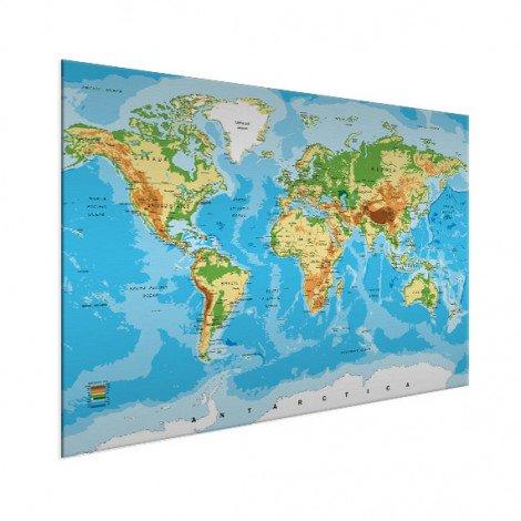 Weltkarte Klassisch Aluminium
