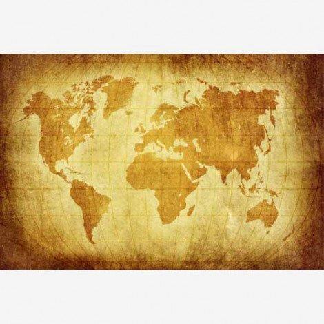 Weltkarte Pergament Poster