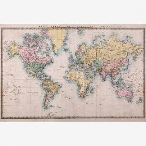 Weltkarte Realistisch Poster