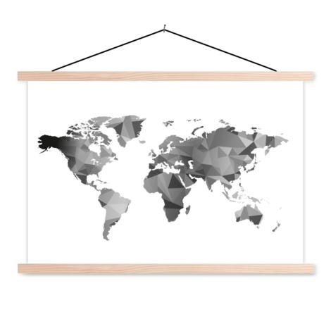 Geometrisch Schwarz-Weiß Textilposter