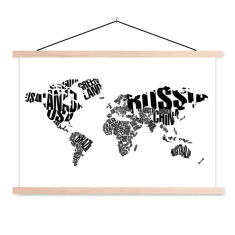 Text schwarz - Textilposter