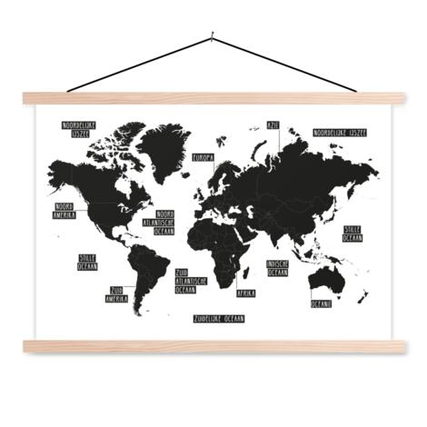 Einfaches schwarz-Weiß Textilposter