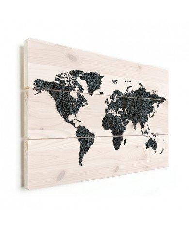 Asiatisch - grün/blau Holz