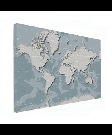 Coole Weltkarte Leinwand