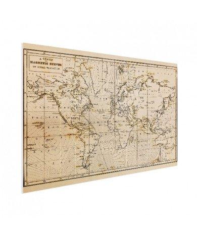 Weltkarte Magnetic Curves Poster