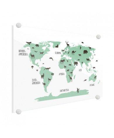 Tiere grün Acrylglas