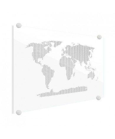 Kreuzmuster schwarz-weiß Acrylglas