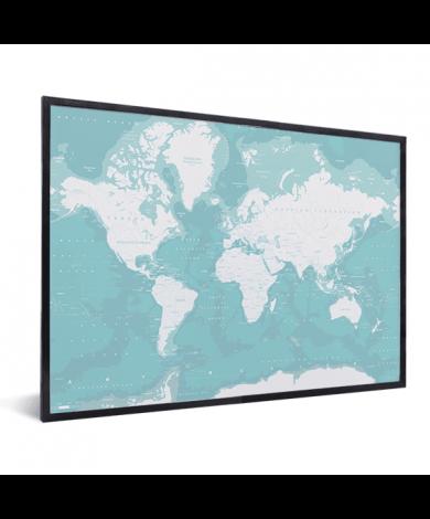 Ozeane Weltkarte im Rahmen