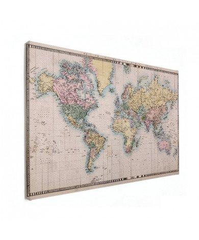 Weltkarte Realistisch Leinwand