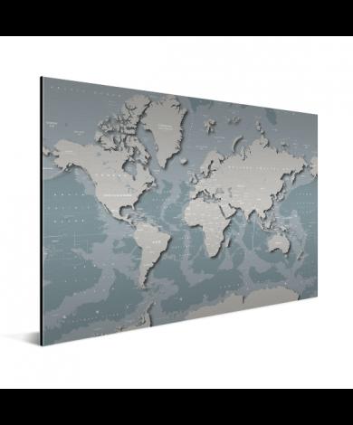 Coole Weltkarte Aluminium