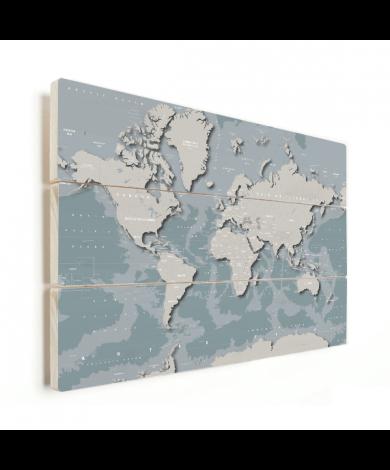 Coole Weltkarte Holz