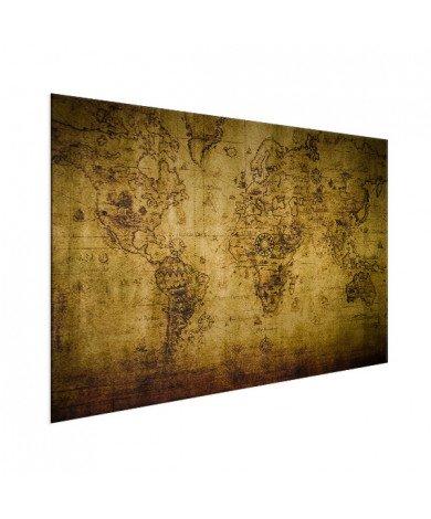 Weltkarte Kompass Aluminium