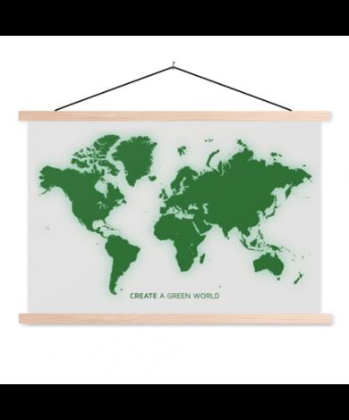 Grün Textilposter