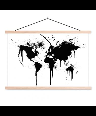 Schwarze Tinte Textilposter