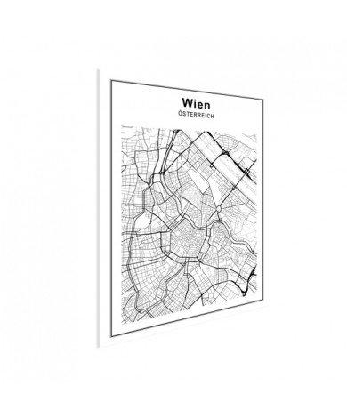 Stadtkarte Wien Schwarz-Weiß Poster